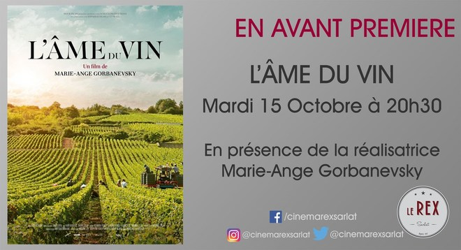 Avant Première: L' AME DU VIN // Mardi 15 Octobre à 20h30