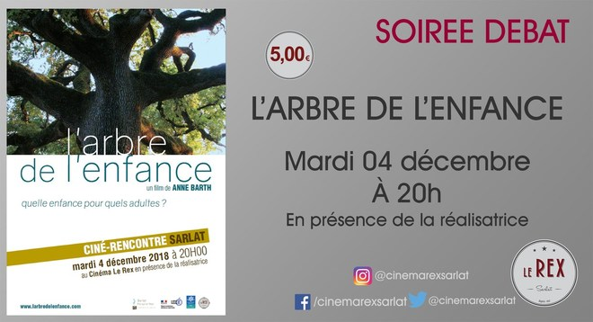 Ciné Rencontre - L'ARBRE DE L'ENFANCE // Le mardi 04 décembre à 20h en présence de la réalisatrice Anne Barth