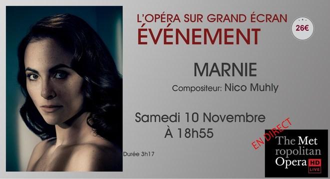 Opéra du MET: MARNIE // Samedi 10 Novembre à 18h55