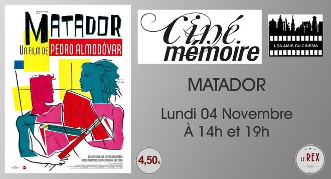 Ciné mémoire : MATADOR // Lundi 04 Novembre à 14h et 19h