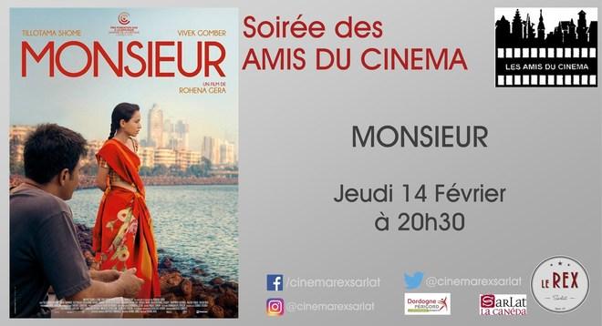 Amis du Cinéma : MONSIEUR // Jeudi 14 Février à 20h30