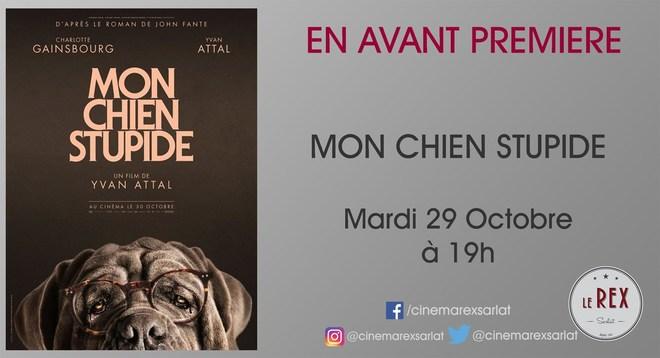 Avant Première:MON CHIEN STUPIDE // Mardi 29 Octobre à 19h