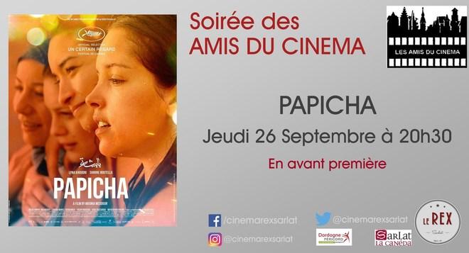 Amis du Cinéma: PAPICHA // Jeudi 26 Septembre à 20h30