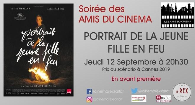 Amis du Cinéma : PORTRAIT DE LA JEUNE FILLE EN FEU // Jeudi 12 Septembre à 20h30