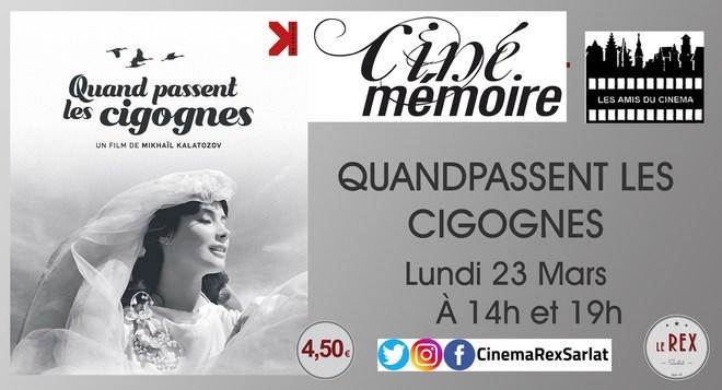 Ciné Mémoire: QUAND PASSENT LES CIGOGNES // Lundi 23 Mars à 14h et 19h