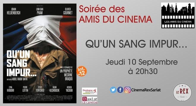 Soirée Amis du Cinéma: QU'UN SANG IMPUR//Jeudi 10 Septembre à 20h30