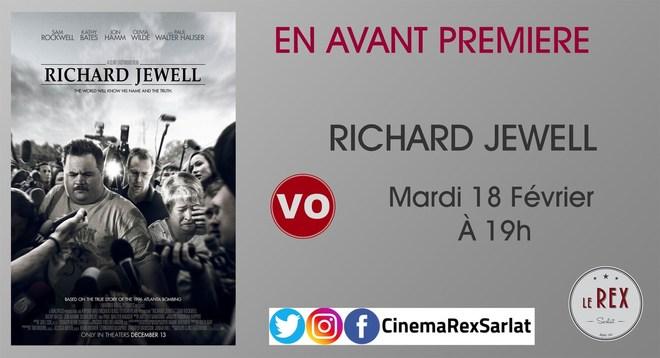 Avant Première: LE CAS RICHARD JEWELL // Mardi 18 Février à 19h