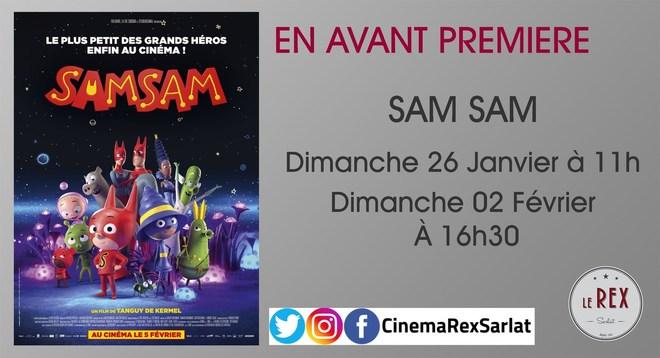 Avant Première: SAMSAM // Dimanche 26 Janvier à 11h et Dimanche 02 Février à 16h30