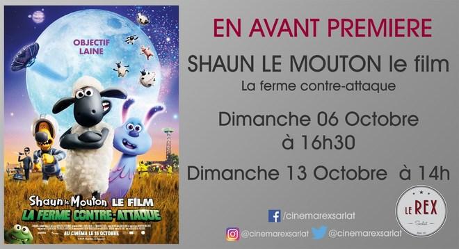 Avant Première: SHAUN le film - La ferme contre attaque// Dimanche 06 Octobre à 16h30 et Dimanche 13 Octobre à 14h