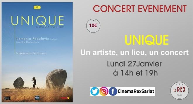 Concert Evénement: UNIQUE // Lundi 27 Janvier à 14h et 19h