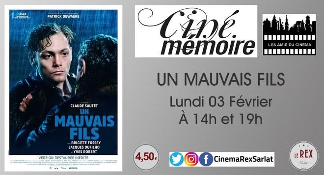 Ciné Mémoire: UN MAUVAIS FILS // Lundi 03 Février à 14h et 19h