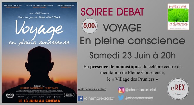 Soirée débat: VOYAGE EN PLEINE CONSCIENCE // Samedi 23 Juin à 20h