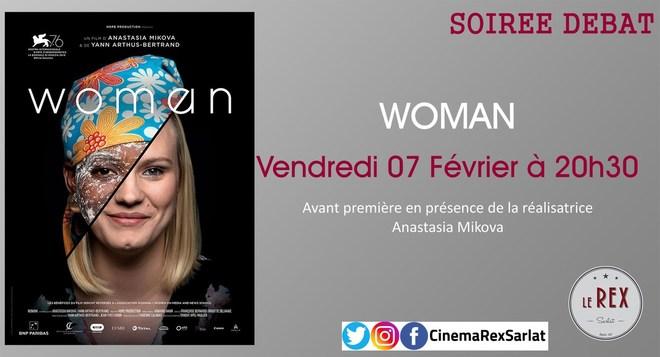 Soirée débat: WOMAN // Mardi 07 Février à 20h30