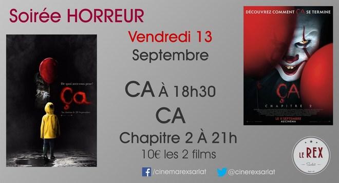 Soirée Horreur : Vendredi 13 Septembre à partir de 18h30