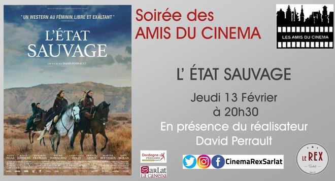 Soirée Amis du Cinéma:L' ETAT SAUVAGE // Jeudi 13 Février à 20h30