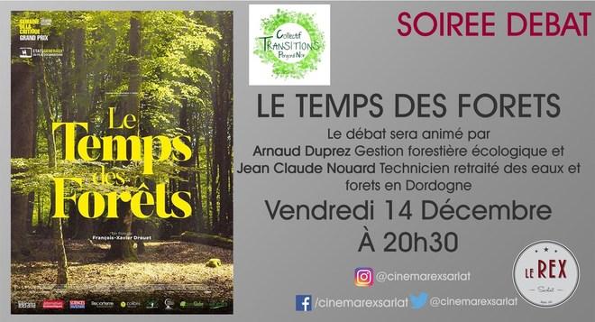 Soirée Débat: LE TEMPS DES FORETS // Vendredi 14 Décembre à 20h30