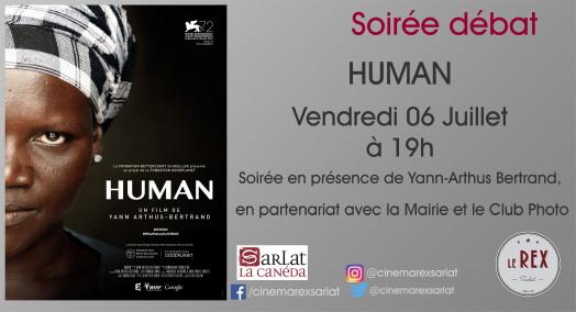 Soirée débat: HUMAN // Vendredi 06 Juillet à 19h
